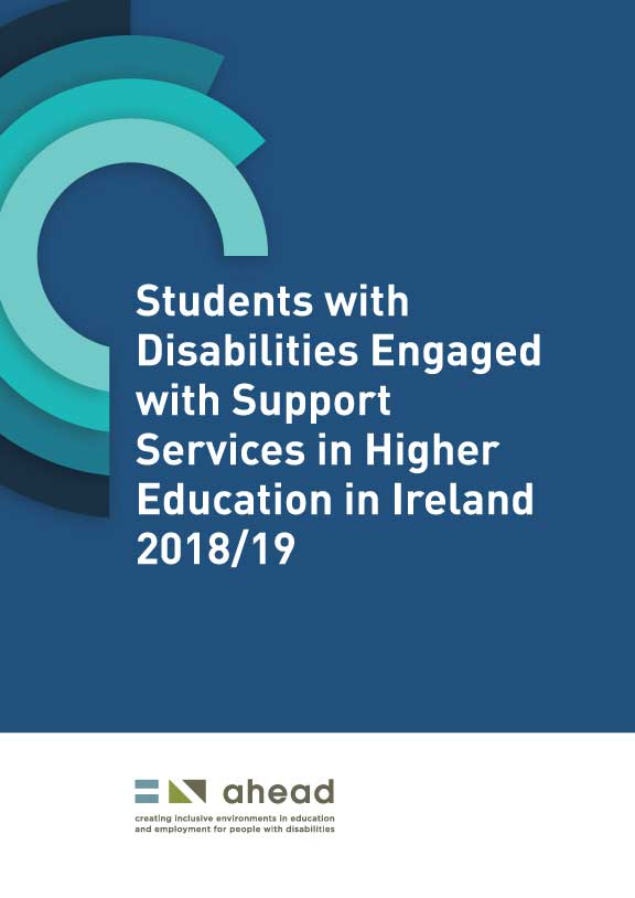 Students with Disabilities Engaged with Support Services in Higher Education in Ireland 2018/19