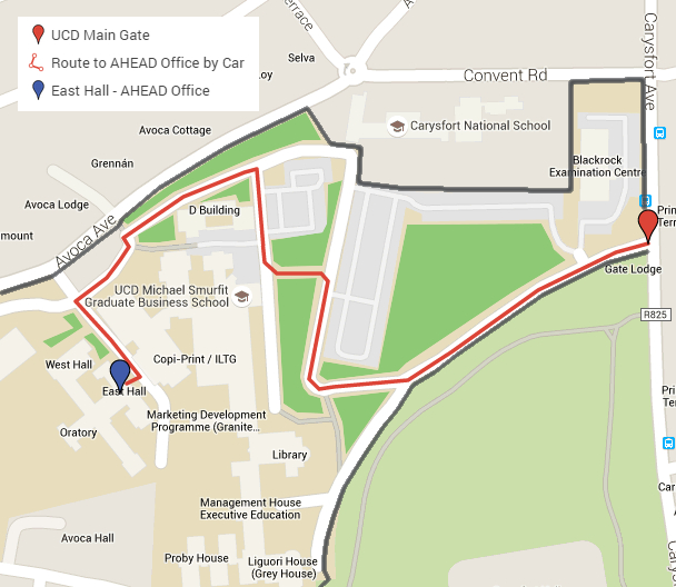 UCD Campus Map - Find AHEAD Office