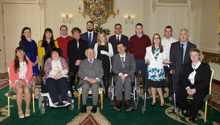 WAM Graduates with President Michael D. Higgins