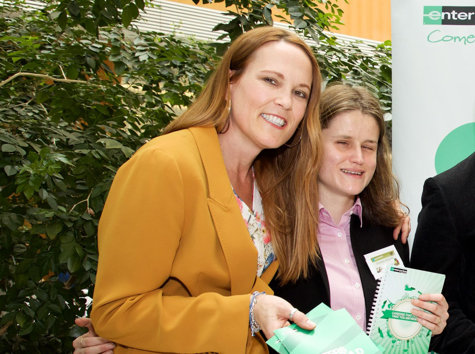 Christina and her manager Leslee O'Loughlin at AHEAD's Building the Future Careers Fair
