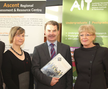 Photo: Patrician Kearney (left) with Ann Heelan (right) and president of AIT, Prof. Ciar�n � Cath�in