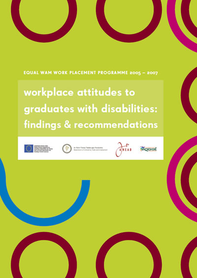 Report: Workplace Attitudes to Graduates with Disabilities (PDF)